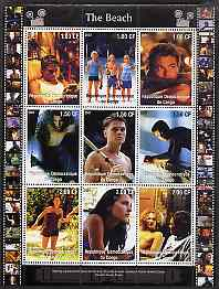 Congo 2001 The Beach perf sheetlet containing 9 values unmounted mint