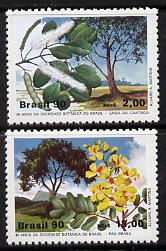Brazil 1990 Botanical Society (Flowering Trees) unmounted mint set of 2, SG 2401-02, Mi 2340-41*