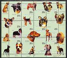 Kyrgyzstan 1999 Dogs of the World perf sheetlet containing 12 values unmounted mint