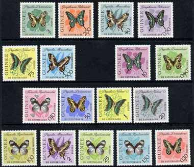 Guinea - Conakry 1963 Butterflies set of 17 unmounted mint, SG 383-99