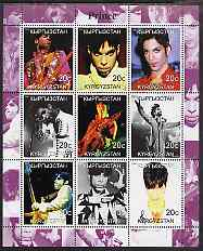 Kyrgyzstan 2000 Prince (Pop Singer) perf sheetlet containing 9 values unmounted mint