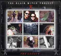 Tadjikistan 2000 The Blair Witch Project perf sheetlet containing 9 values unmounted mint