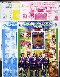 Somalia 2002 Football World Cup (Korean Coach) large sheetlet containing 1 value, the set of 5 progressive proofs comprising the 4 individual colours plus all 4-colour composite (as issued) all unmounted mint