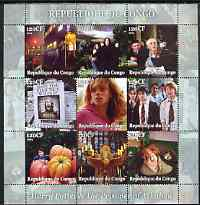Congo 2004 Harry Potter & The Prisoner of Azkaban perf sheetlet containing 9 values unmounted mint