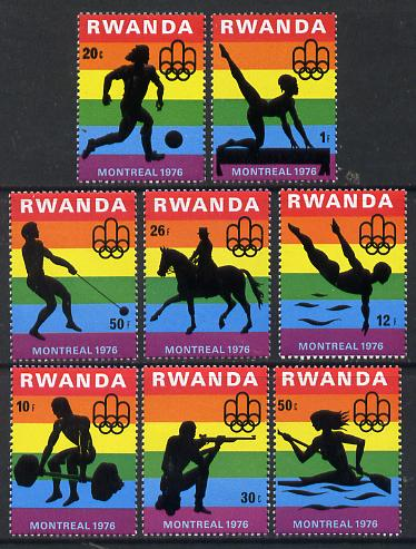 Rwanda 1976 Montreal Olympic Games (2nd issue) perf set of 8 values unmounted mint, SG 767-74
