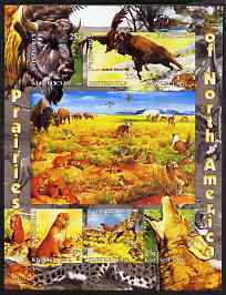 Kyrgyzstan 2004 Fauna of the World - Prairies of N America imperf sheetlet containing 6 values unmounted mint