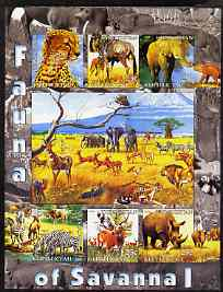 Kyrgyzstan 2004 Fauna of the World - Savanna #1 imperf sheetlet containing 6 values unmounted mint