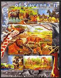 Kyrgyzstan 2004 Fauna of the World - Savanna #2 imperf sheetlet containing 6 values unmounted mint