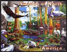 Kyrgyzstan 2004 Fauna of the World - Swamps of N America imperf sheetlet containing 6 values unmounted mint