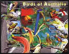 Kyrgyzstan 2004 Fauna of the World - Birds of Australia imperf sheetlet containing 6 values unmounted mint