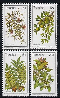 Transkei 1978 Edible Wild Fruits set of 4 unmounted mint, SG 41-44