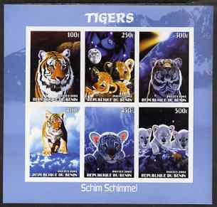 Benin 2003 Tigers #1 imperf sheetlet containing 6 values unmounted mint