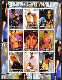 Congo 2005 Halle Berry imperf sheetlet containing 9 values unmounted mint