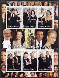 Eritrea 2003 75th Annual Academy Awards imperf sheetlet containing 6 values unmounted mint (shows C Zeta-Jones, N Kidman, etc)