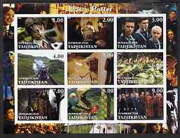 Tadjikistan 2002 Harry Potter & Chamber of Secrets imperf sheetlet containing 9 values unmounted mint