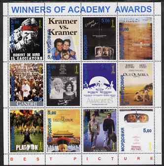 Mordovia Republic 2001 Academy Awards - Best Pictures 1978-1989 perf sheetlet containing set of 12 values unmounted mint