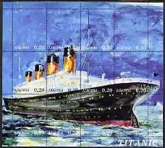 Abkhazia 2000 Titanic perf composite sheetlet containing 12 values unmounted mint