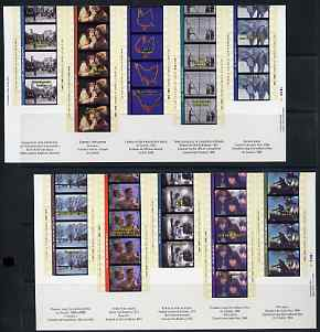 Booklet - Canada 1996 Centenary of Cinema the set of two self-adhesive sheets complete with booklet in presentation envelope, as SG MS 1698a/b