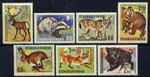Czechoslovakia 1966 Game Animals set of 7 unmounted mint, SG1612-18