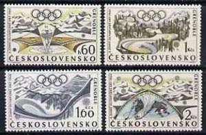Czechoslovakia 1968 Grenoble Winter Olympics set of 4 unmounted mint, SG1714-17