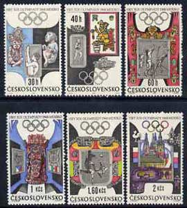 Czechoslovakia 1968 Mexico Olympics set of 6 unmounted mint, SG1732-37