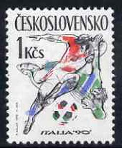 Czechoslovakia 1990 World Cup Football Championships, Italy unmounted mint SG3024*
