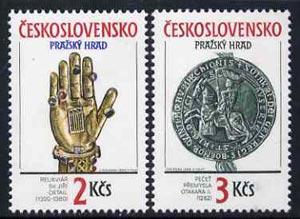 Czechoslovakia 1990 Prague Castle (26th Series) set of 2 unmounted mint, SG3026-27