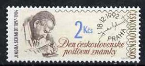 Czechoslovakia 1992 Stamp Day (Jindra Schmidt - engraver) 2k unmounted mint, SG3111