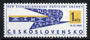 Czechoslovakia 1966 Stamp Day - Carrier Pigeon, unmounted mint, SG1624