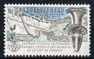 Czechoslovakia 1961 Orlik Dam 20h unmounted mint from 'Praga 62' International Stamp Ex set, SG1250