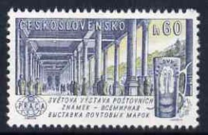 Czechoslovakia 1961 Karlovy Vary spa 60h unmounted mint from 'Praga 62' International Stamp Ex set, SG1253