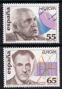 Spain 1994 Europa - Discoveries set of 2 (research into DNA & into atomic structures) unmounted mint, SG3278-79