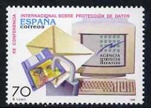 Spain 1998 20th International Data Protections Conference unmounted mint, SG3489