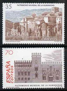 Spain 1998 World Heritage Sites (Silk Exchange, Valencia & Fortified City, Cuenca) set of 2 unmounted mint, SG3491-92