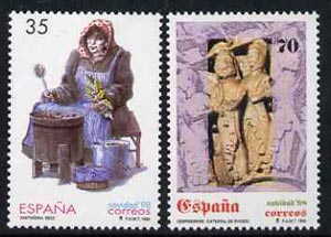 Spain 1998 Christmas set of 2 unmounted mint, SG3525-26