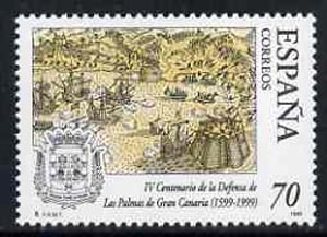 Spain 1999 400th Anniversary of Defence of Las Palmas, Gran Canaria unmounted mint, SG3582
