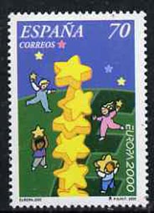 Spain 2000 Europa 70p (Building Europe) unmounted mint, SG3646