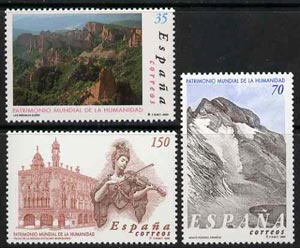 Spain 2000 UNESCO World Heritage Sites set of 3  unmounted mint, SG3674-76