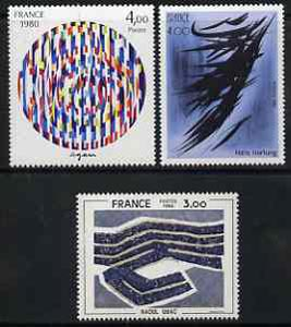 France 1980 Philatelic Creations set of 3 abstract designs  unmounted mint, SG2346-48
