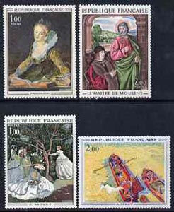 France 1972 French Art set of 4 unmounted mint, SG1944-47, stamps on arts, stamps on monet