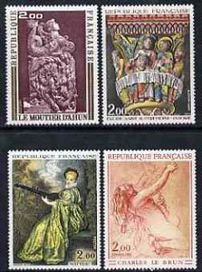 France 1973 French Art set of 4 unmounted mint, SG1985-88