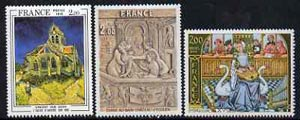 France 1979  Art set of 3 unmounted mint, SG2290-92