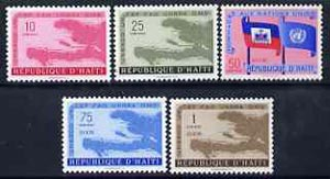 Haiti 1958 United Nations set of 5 unmounted mint, SG 611-15