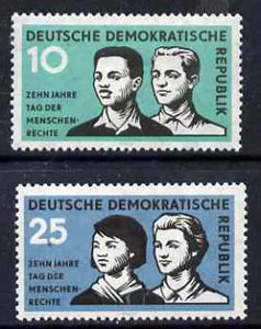 Germany - East 1958 Declaration of Human Rights 10th Anniversary set of 2 unmounted mint, SG E403-04