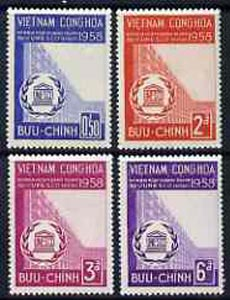 Vietnam - South 1958 inauguration of UNESCO HQ set of 4 unmounted mint, SG S67-70