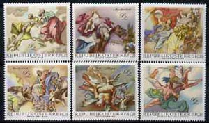 Austria 1968 Baroque Frescoes set of 6 unmounted mint, SG1537-42