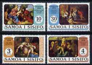 Samoa 1974 Christmas set of 4 religious paintings unmounted mint, SG 435-48