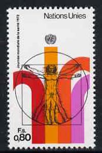 United Nations (Geneva) 1972 World Health Day (Proportions of Man by Da Vinci) unmounted mint, SG G24