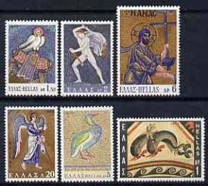 Greece 1970 Greek Mosaics set of 6 unmounted mint, SG 1125-30