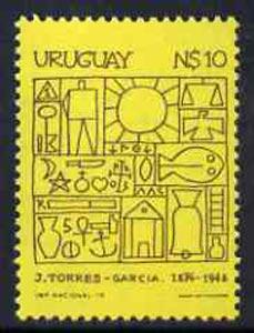 Uruguay 1979 Death Anniversary of Joaquim Torres-Garcia (artist) unmounted mint, SG1719